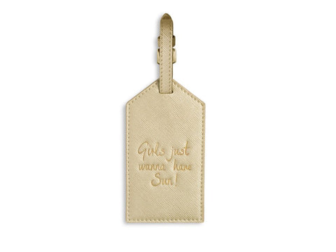 'Girls Just Want To Have Sun' Luggage Tag | Jessimara London