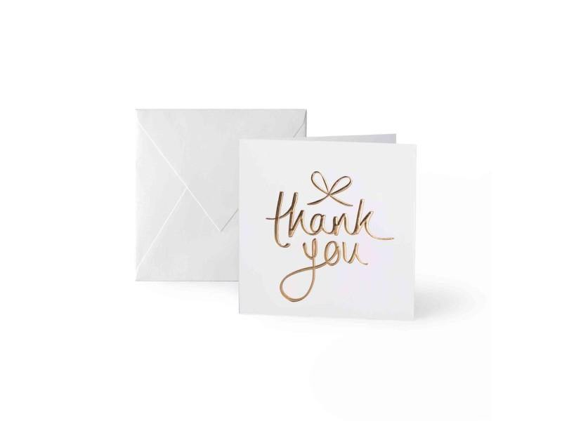 Mini Gold 'Thank You' Card | Jessimara London