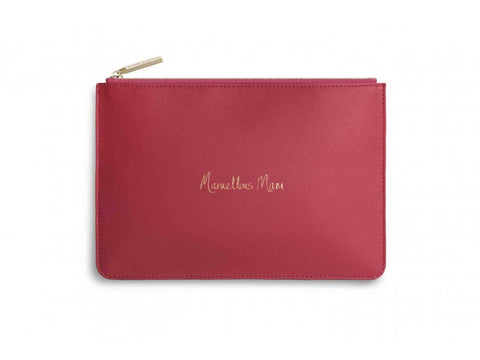 'Marvellous Mum' Fuchsia Pink Perfect Pouch | Jessimara London
