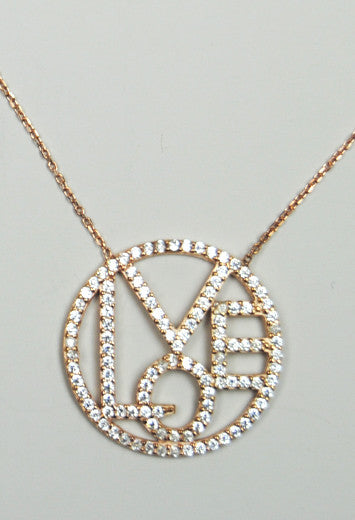 JESSIMARA ROSE GOLD LOVE NECKLACE Jessimara - Jessimara