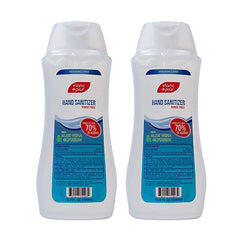 70% Alcohol Hand Sanitizer Gel with Aloe Vera and Glycerin (16.9oz) – 2 Bottle Pack