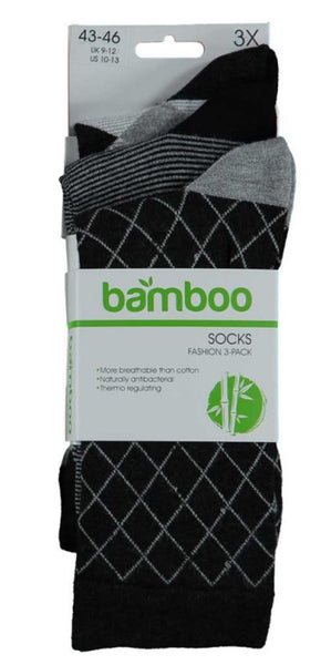 Bamboo socks Fashion Heren/KL ZW/Ruit