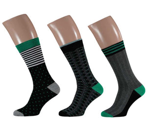 Bamboo Socks Fashion Heren/KL ZW/ Groen