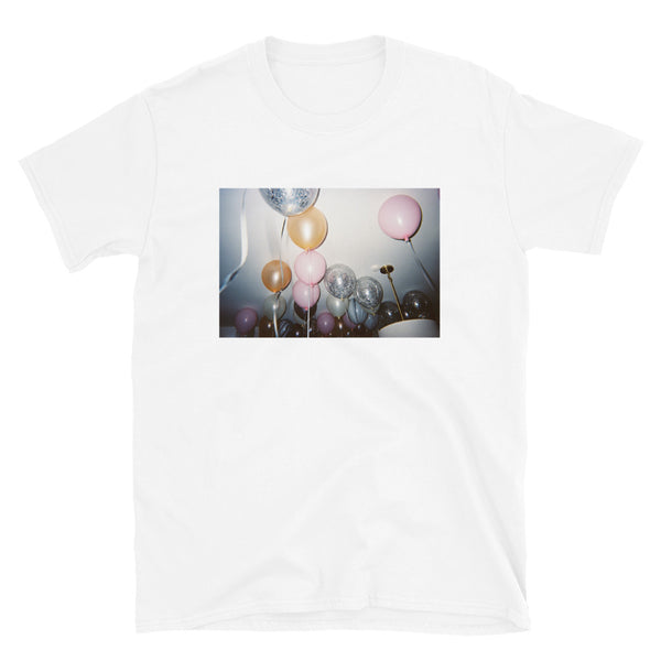 TokyoSleep® Balloons Short-Sleeve Unisex T-Shirt - White