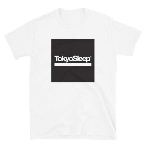 TokyoSleep® Original Square Logo Short-Sleeve Unisex T-Shirt - White