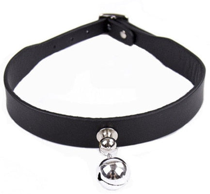 BDSM Leather Eye Mask & Collar