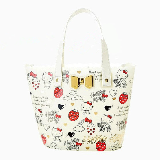 Sanrio Hello Kitty jelly tote bag white candy