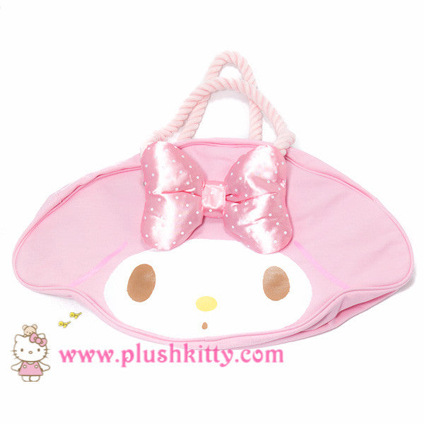 Sanrio My melody Rope Tote bag with plush bow