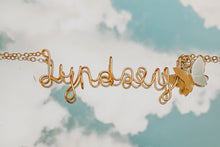 Load image into Gallery viewer, Custom Name Necklace with Flutterly Charm