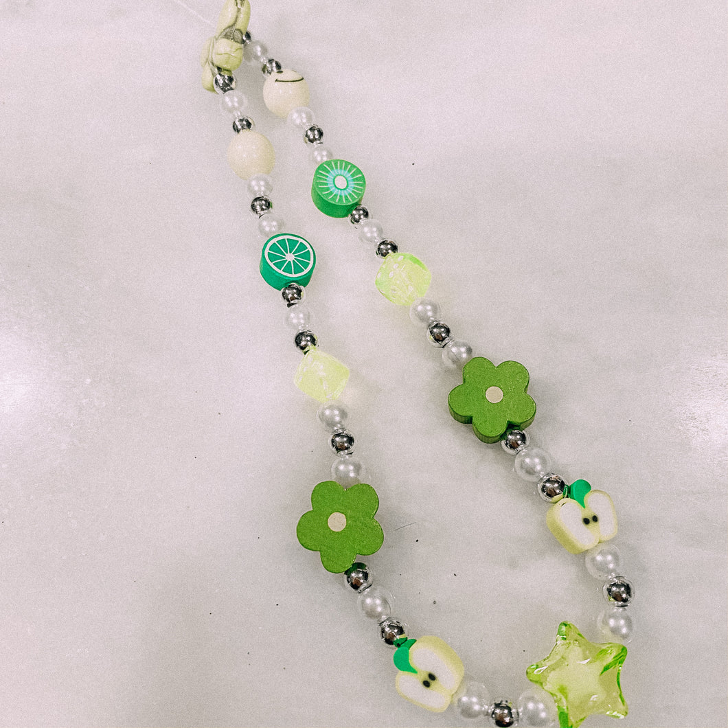 Green with hint of Silver Phone Charm