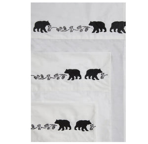 Sheet Set Bear Embroidered Twin