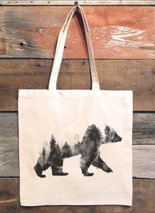 Tote Double Exposure Bear Natural