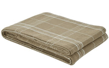 "Load image into Gallery viewer, Bedspread Fieldstone Plaid Cream- Queen 94"" x 108"""