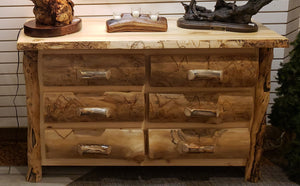 Dresser Colorado Aspen Log 6 Drawer 54""
