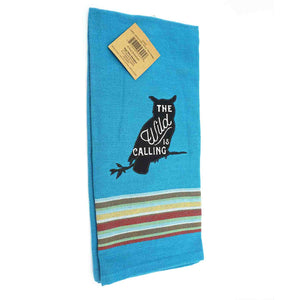 "Dishtowel-blue, ""the Wild is Calling"""
