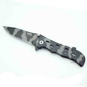 "Knife 4.5"" Black Camo"