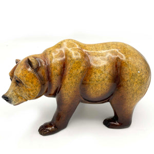 "Sculpture ""Walk About"" – Bear in Topaz"