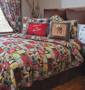 """Cabin in the Woods"" Bedspread (5 piece set)"
