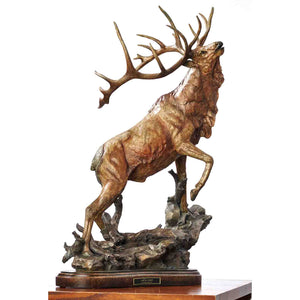 "Sculpture-""Call to Contest"" – Elk"