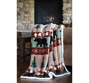 "Throw Plush Cascade Ridge 54""x68"""