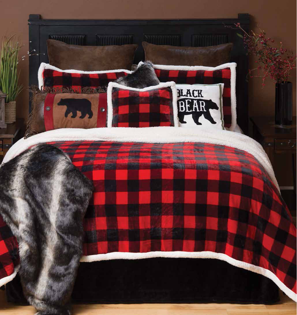 Lumberjack Plaid-bedspread (4 piece set)