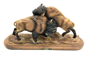 "Sculpture ""Test of Strength"" -Bison"