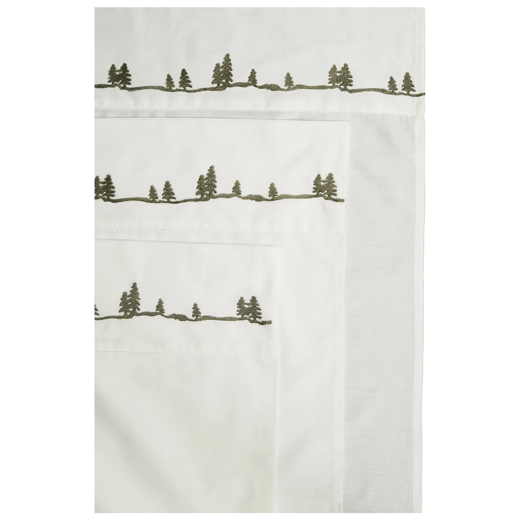 Sheet Set King Pine Embroidered