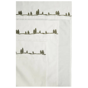 Sheet Set Pine Embroidered Queen