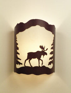 Moose and Trees Sconce