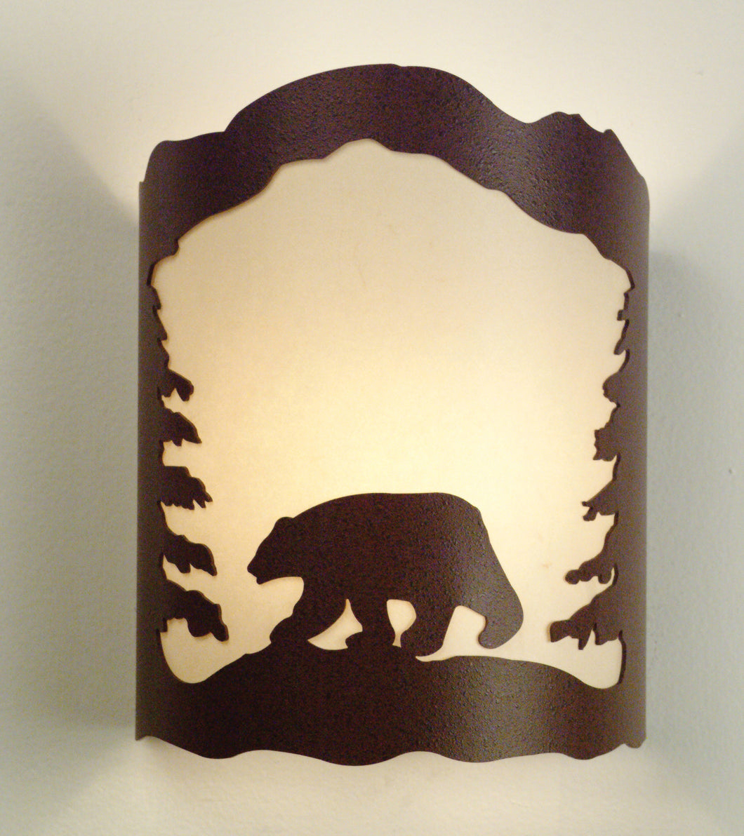 Black Bear with Trees Sconce