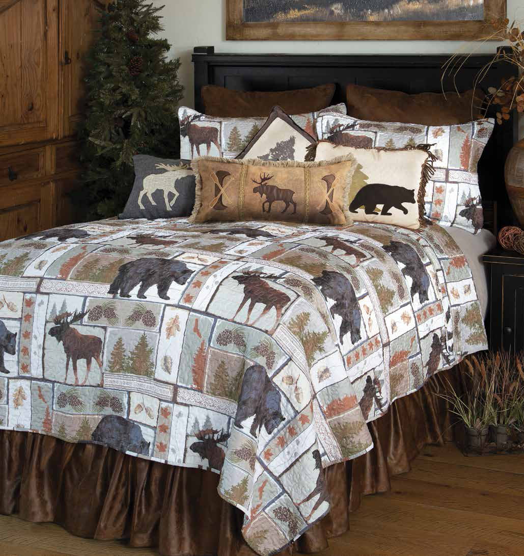 Vintage Lodge- bedspread (3 piece set)