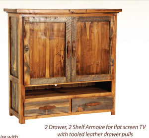Two‐Drawer,two‐shelf Armoire for flat‐screen TV