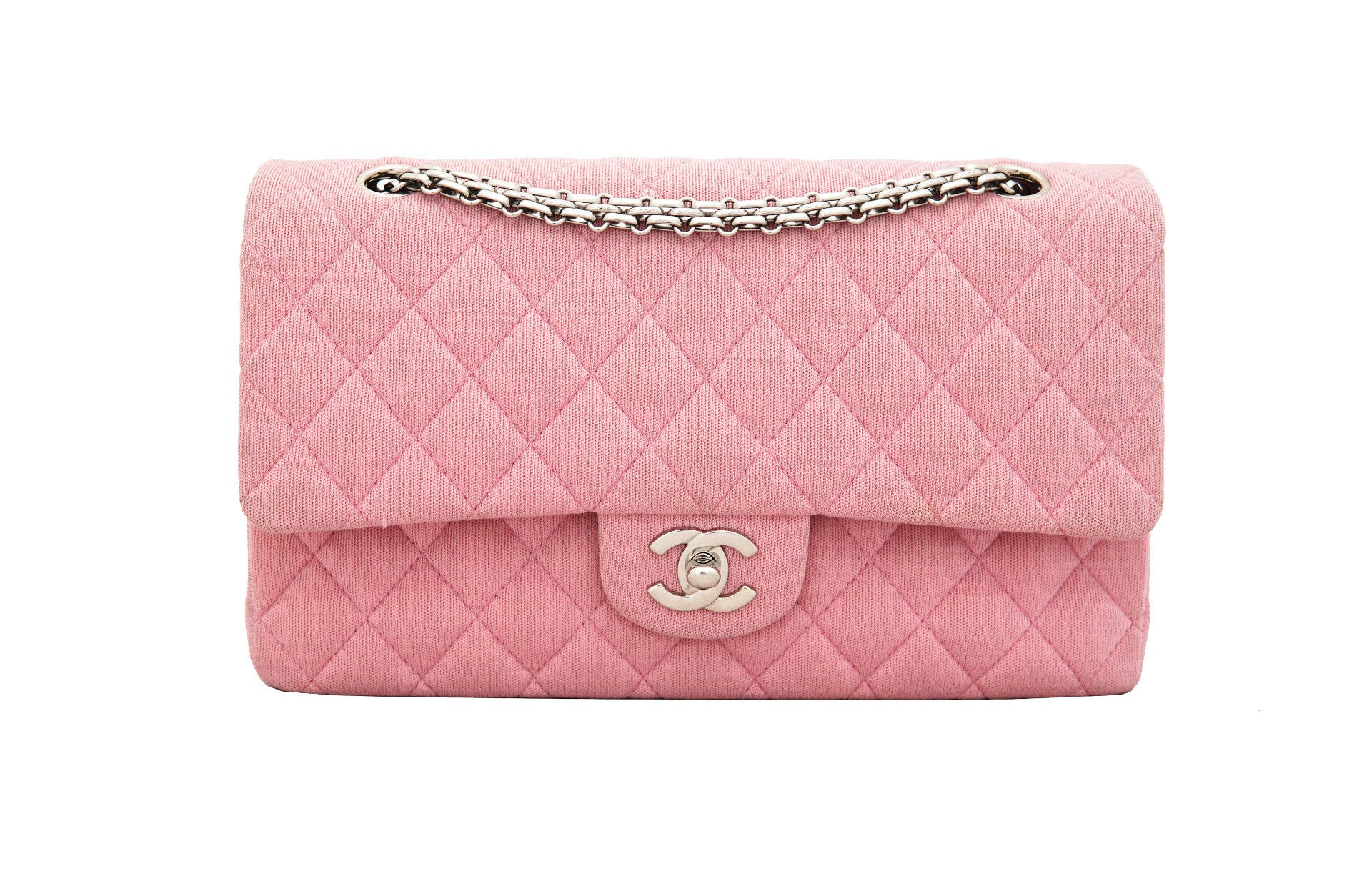 be2c87f94eac Vintage Chanel 2.55 bag jersey pink · CHANEL VINTAGE 2.55 BAG - Classic  Quilted ...