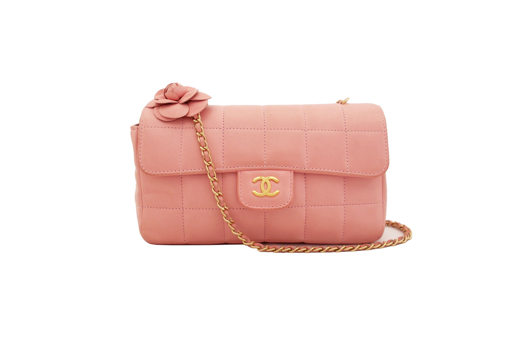 57fbf0b080f3 CHANEL VINTAGE BAG - Mini Flap Camellia in Pink ...