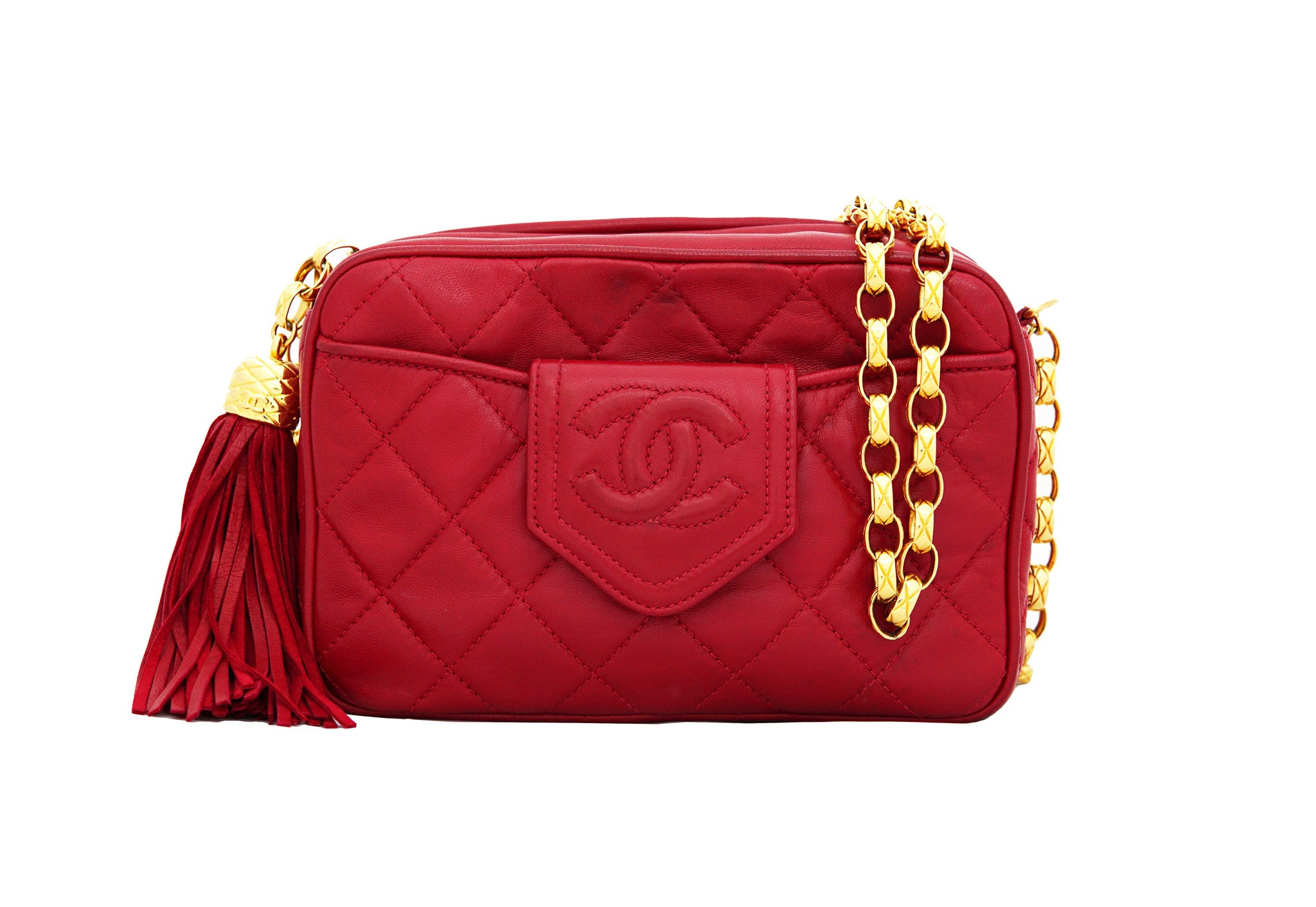 e20882ae80aa CHANEL VINTAGE BAG - Mini Camera Tassel Bag with Bijoux Chain ...