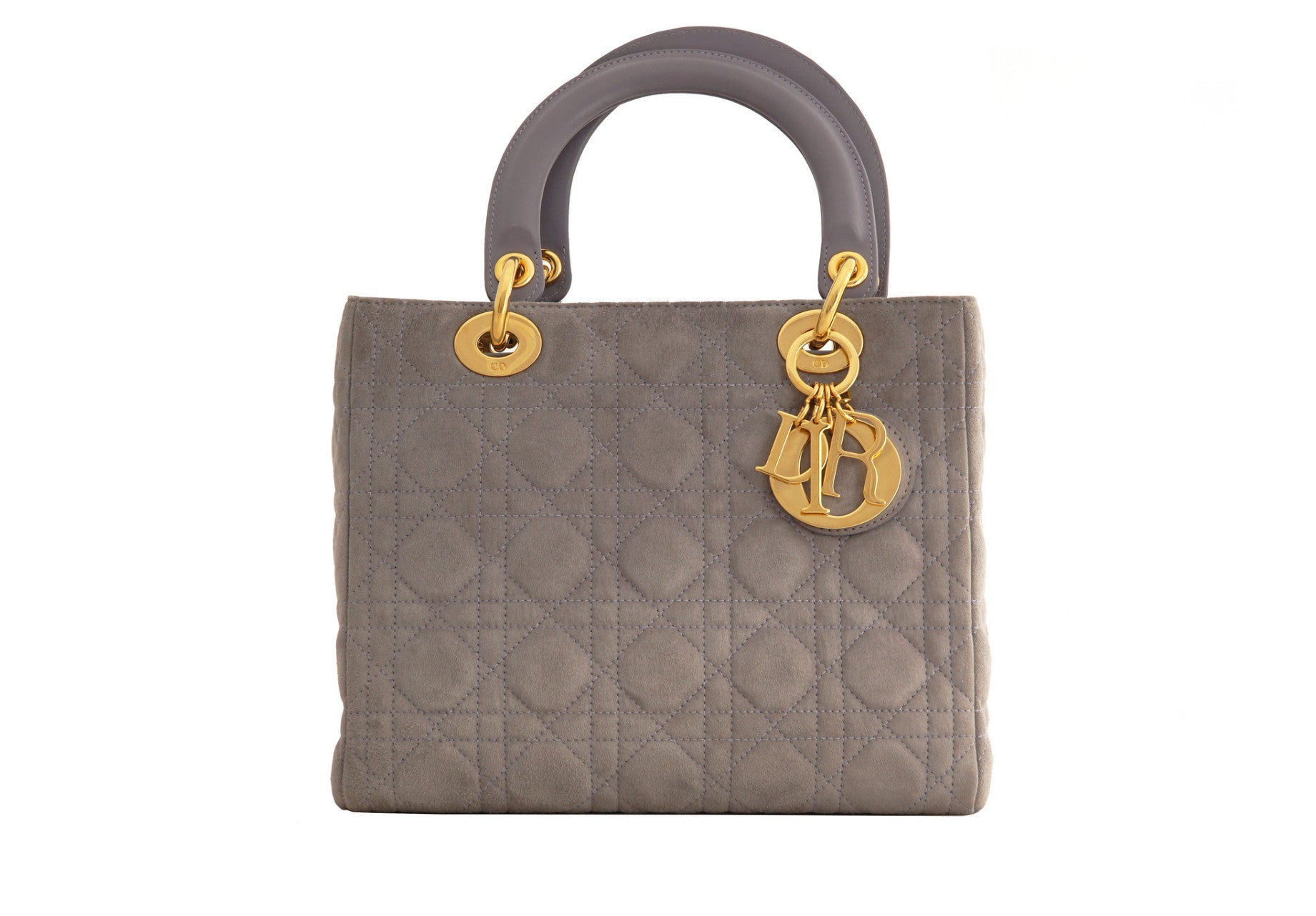 4964c7ac73 CHRISTIAN DIOR VINTAGE LADY BAG - Cannage Suede in Lilac - Vintage District