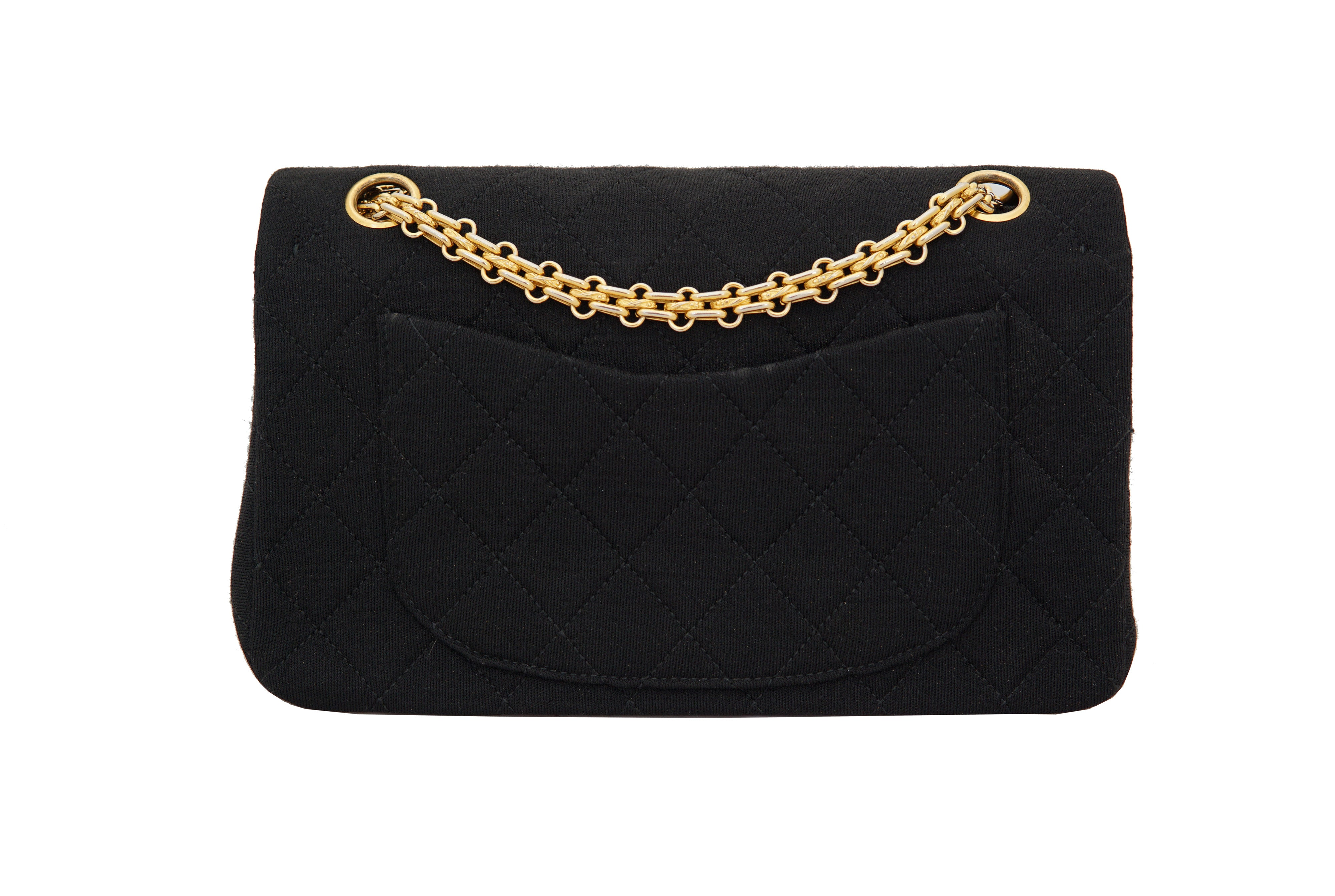 fe391552ed13f4 CHANEL VINTAGE 2.55 BAG - Classic Quilted Jersey in Black
