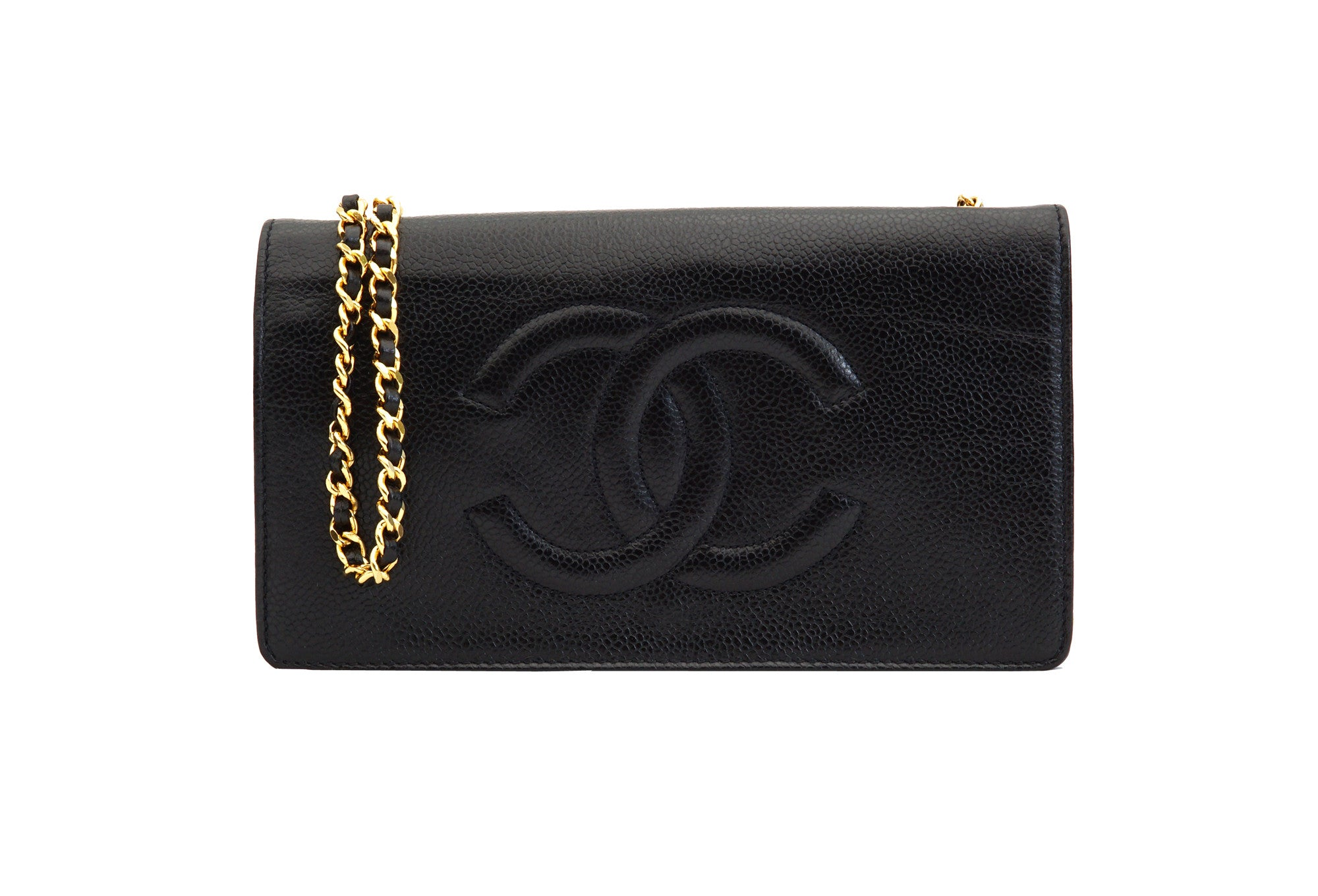 6a7a955e99a5 CHANEL VINTAGE WALLET ON CHAIN - Caviar Black - Vintage District