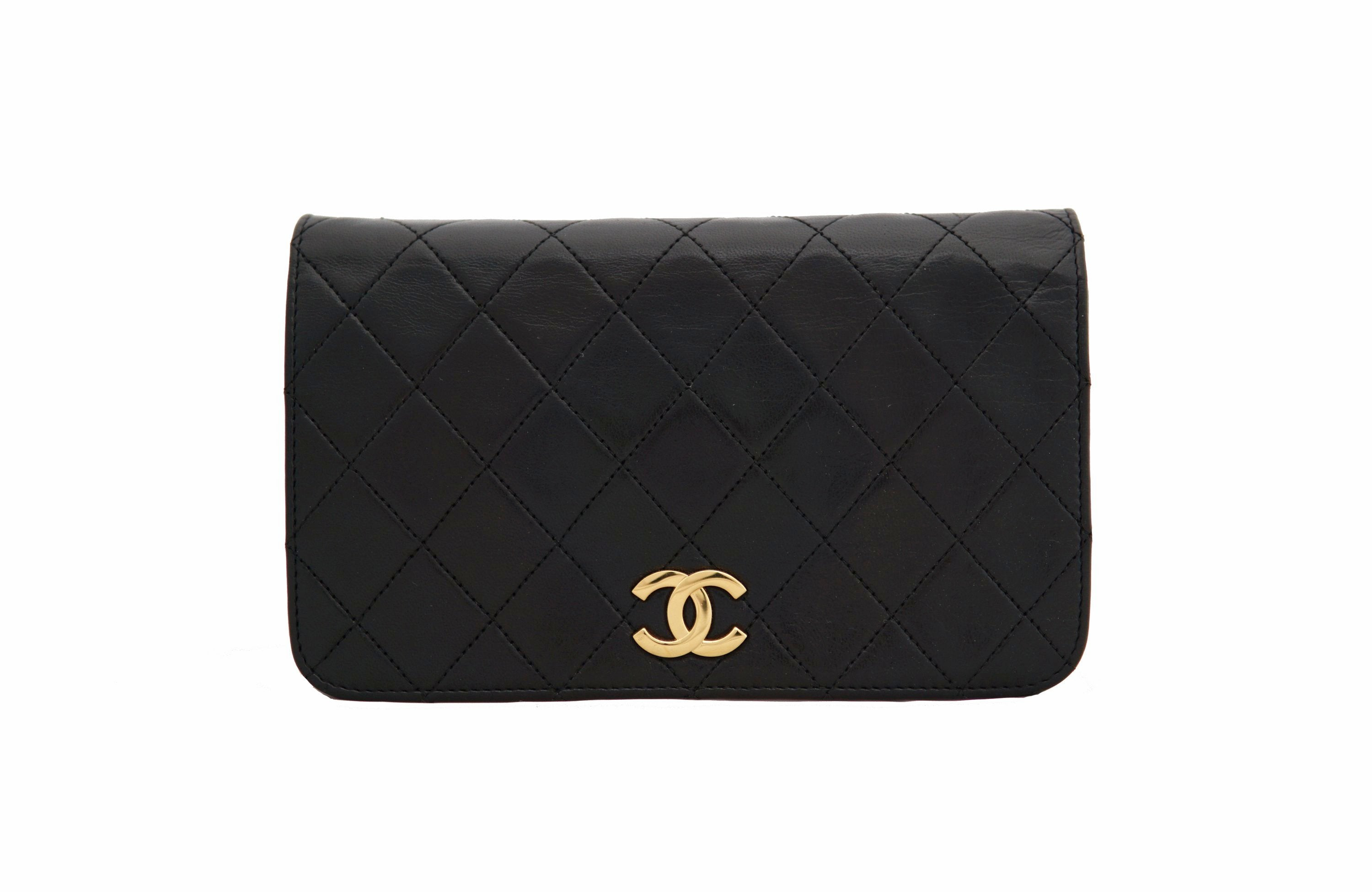 1fbcc11fa23d73 CHANEL VINTAGE BAG - Quilted Full Flap Lambskin in Black - Vintage District