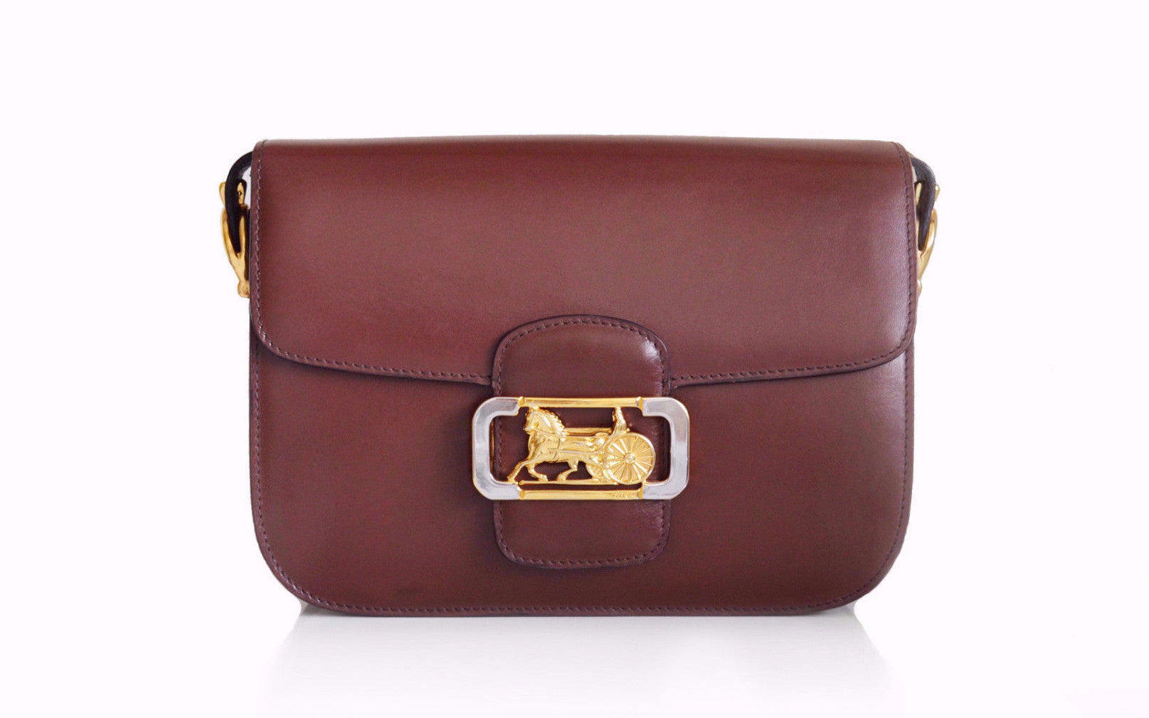 042d607668 CELINE VINTAGE BAG - Classic Box in Brown - Vintage District