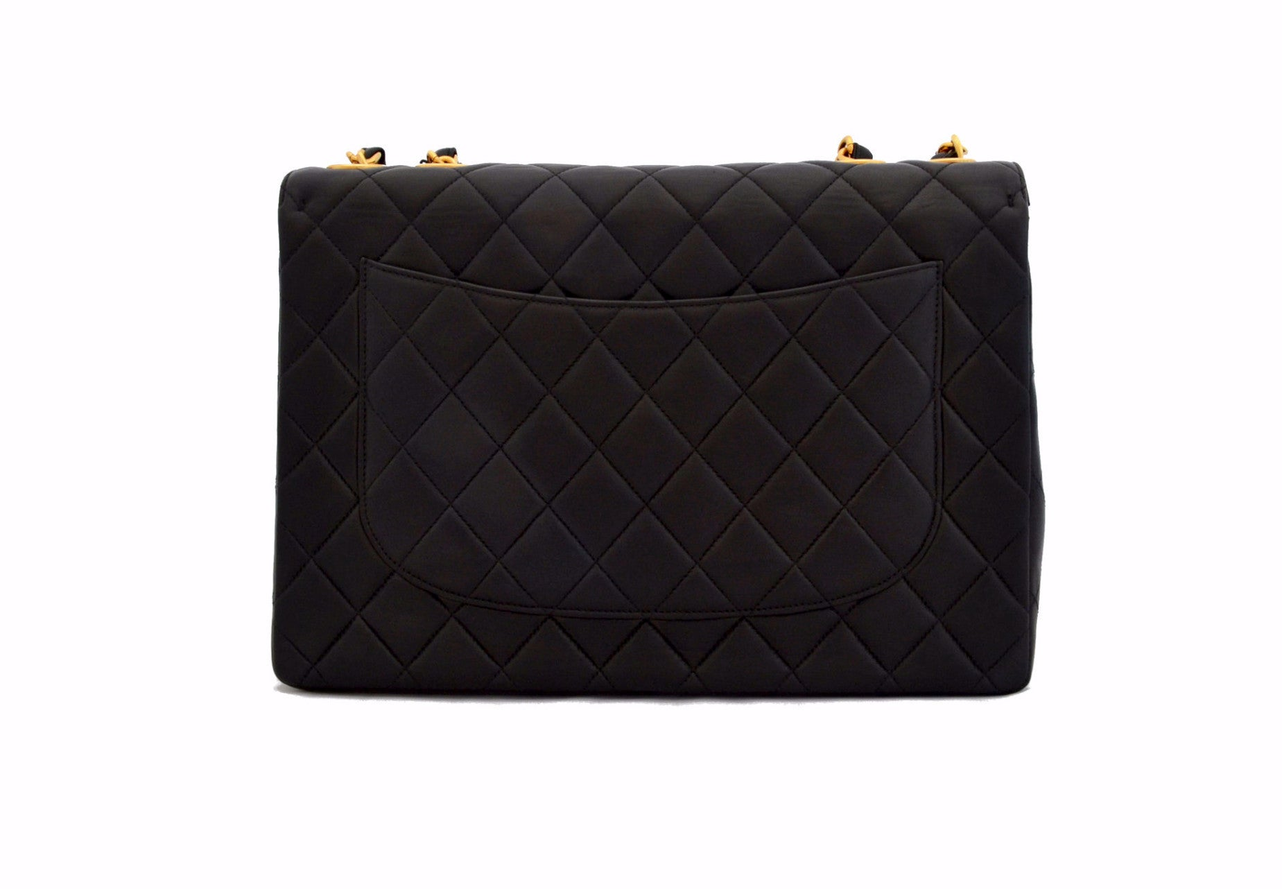 CHANEL VINTAGE JUMBO BAG - Quilted Lambskin in Black 0a6a1410828bf