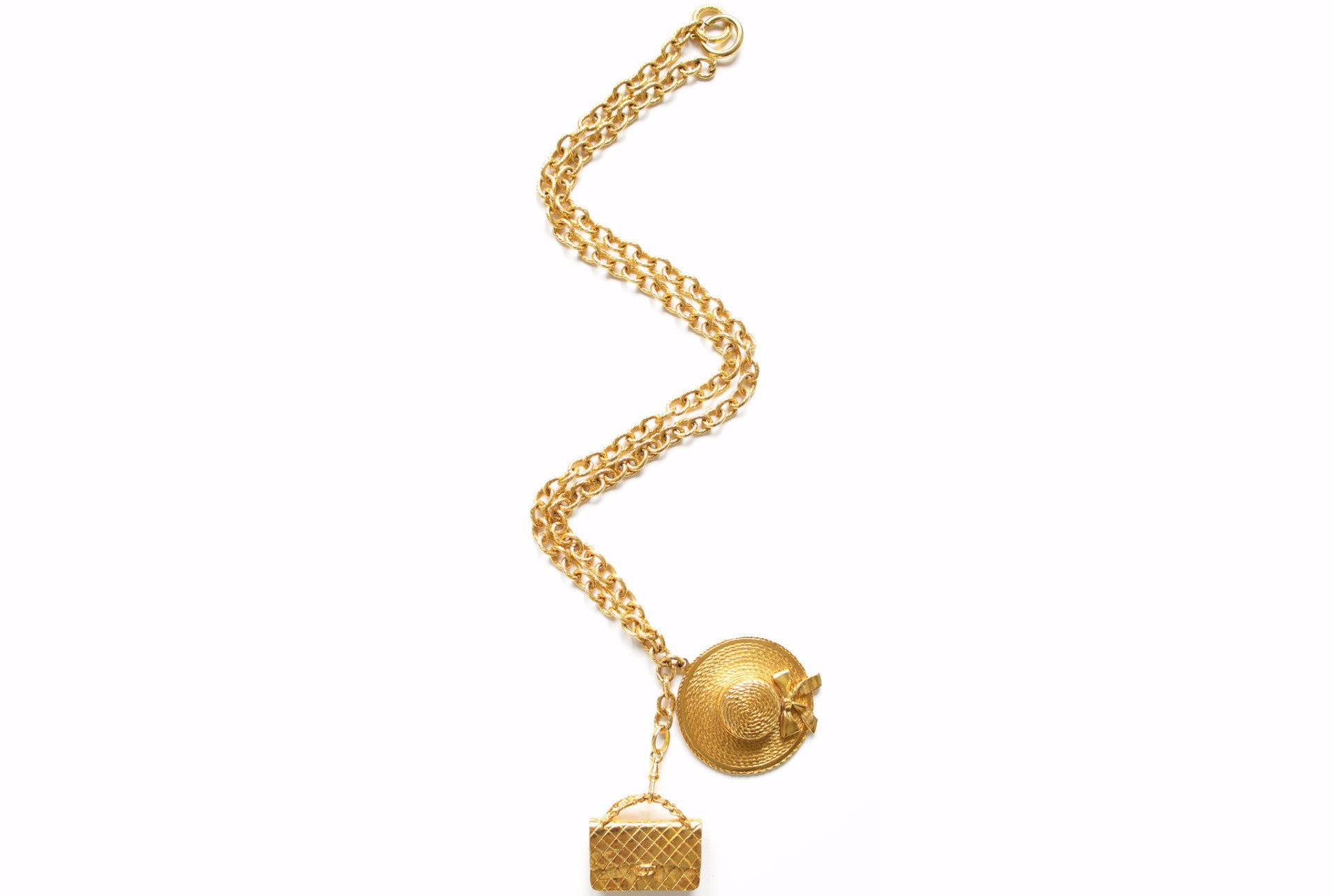 ef46fbaf75a91f CHANEL VINTAGE 2.55 CHARM NECKLACE - Vintage District