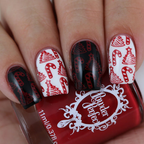 Fire Engine Red Stamping Polish