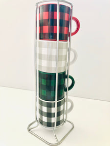 Mini Plaid Mugs (Choose Scents)