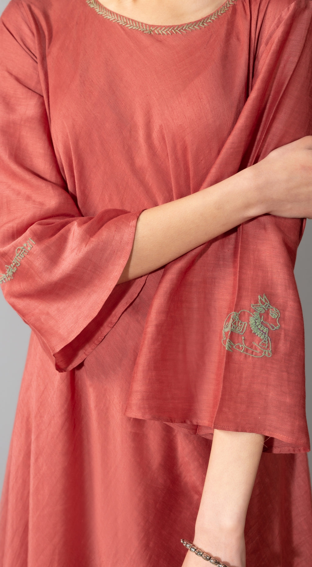Mantra embroidered tunic