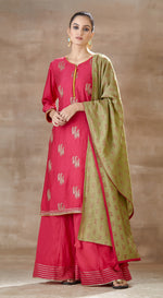 Pink Hand crafted Sharara set