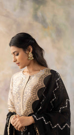 Grey Banarasi Sharara Suit Set