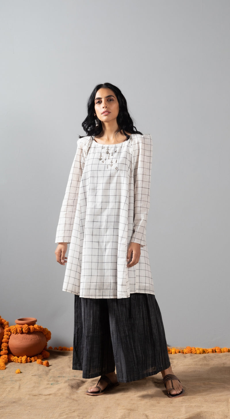 Kurta with mosaic plazzo