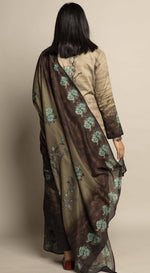 Unstitched Earthy Printed Suit