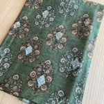 Banarsi green Kurta set with Kalamkari Dupatta-GREEN